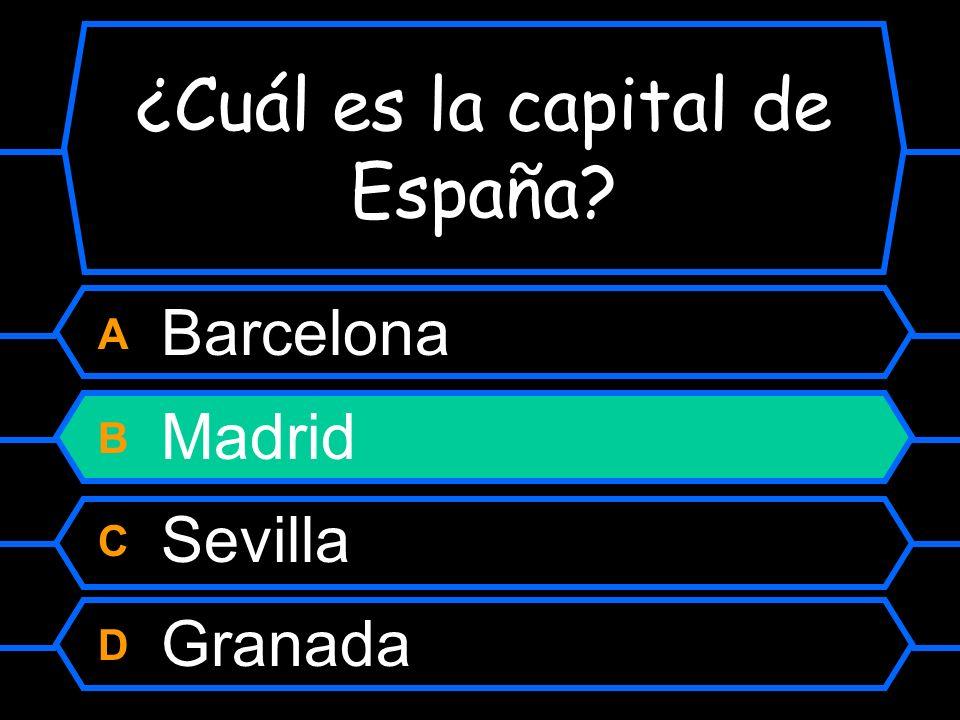 ¿Cuál es la capital de España