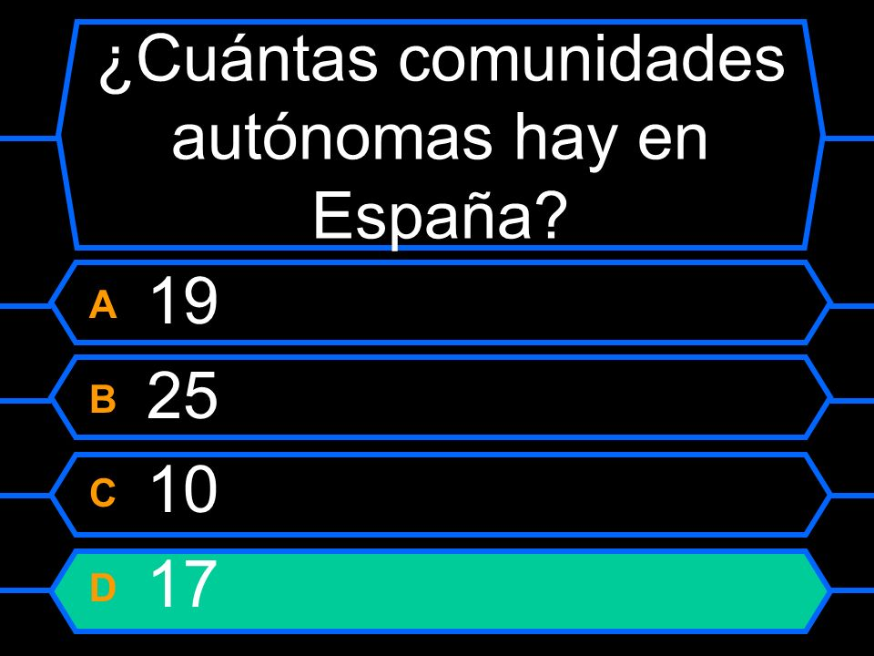 ¿Cuántas comunidades autónomas hay en España