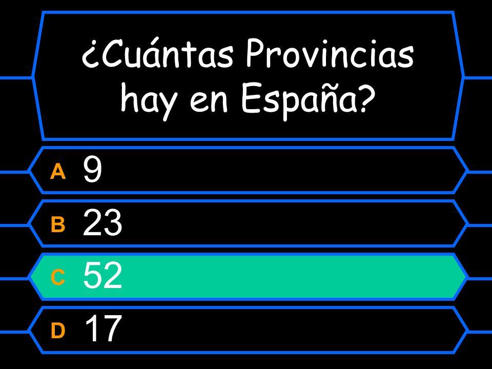 ¿Cuántas Provincias hay en España