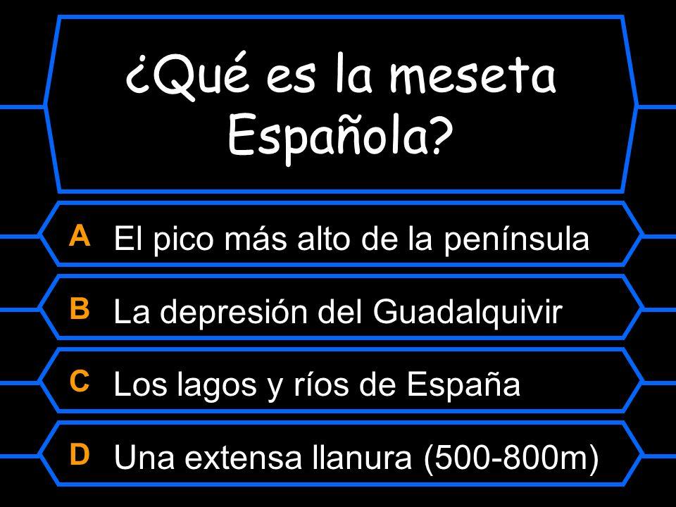 ¿Qué es la meseta Española