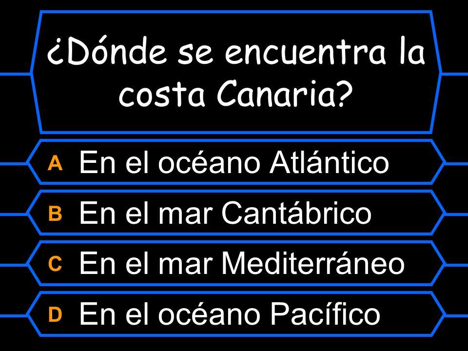 ¿Dónde se encuentra la costa Canaria