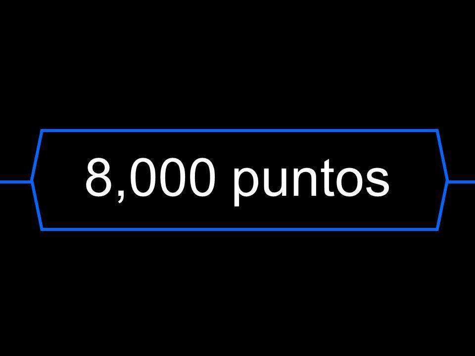 8,000 puntos