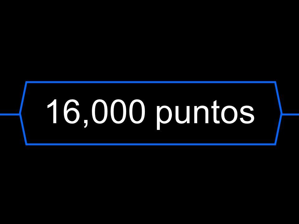 16,000 puntos