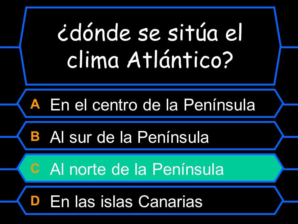 ¿dónde se sitúa el clima Atlántico