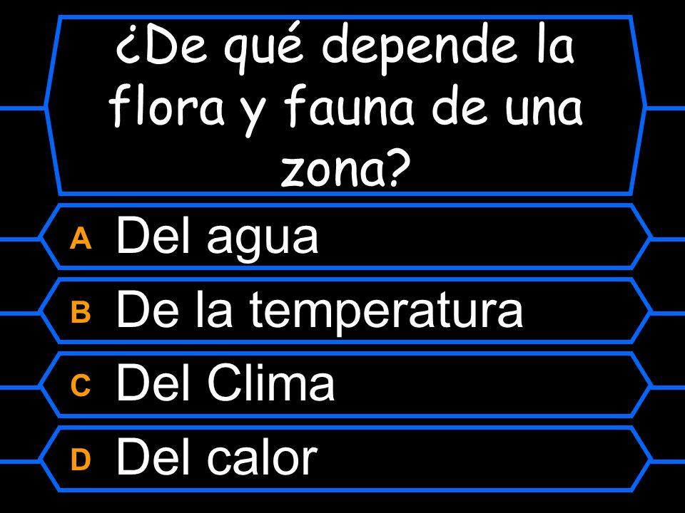 ¿De qué depende la flora y fauna de una zona