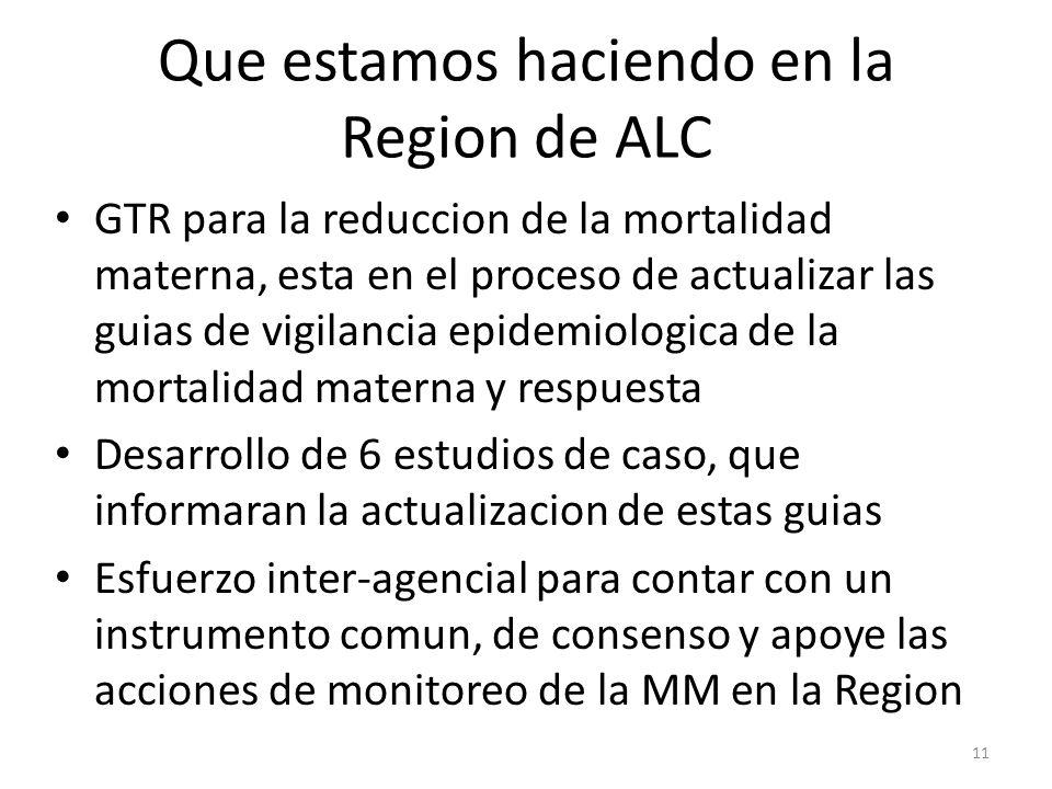 Que estamos haciendo en la Region de ALC