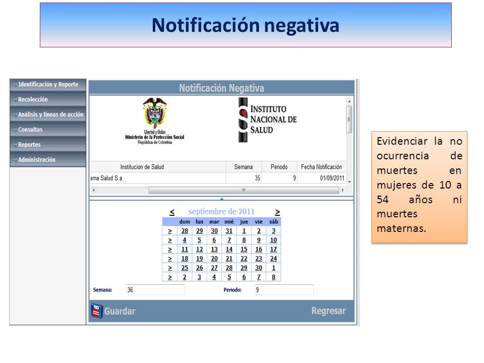Notificación negativa