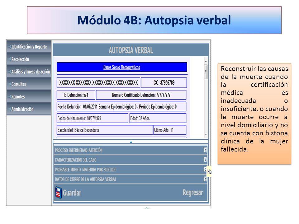 Módulo 4B: Autopsia verbal