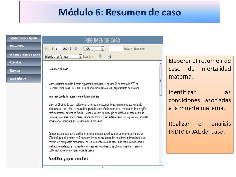Módulo 6: Resumen de caso
