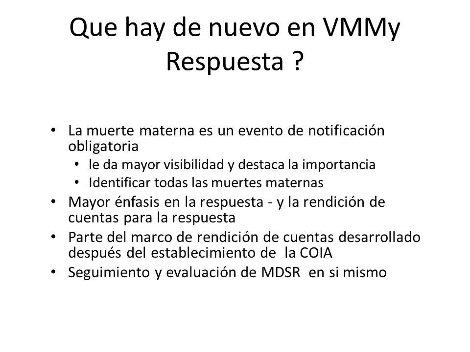 Que hay de nuevo en VMMy Respuesta