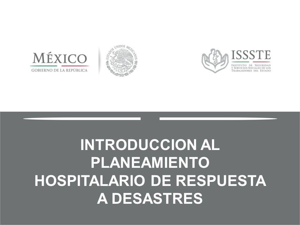 INTRODUCCION AL PLANEAMIENTO HOSPITALARIO DE RESPUESTA A DESASTRES