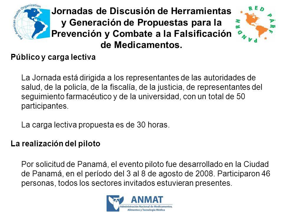 Jornadas de Discusión de Herramientas y Generación de Propuestas para la Prevención y Combate a la Falsificación de Medicamentos.