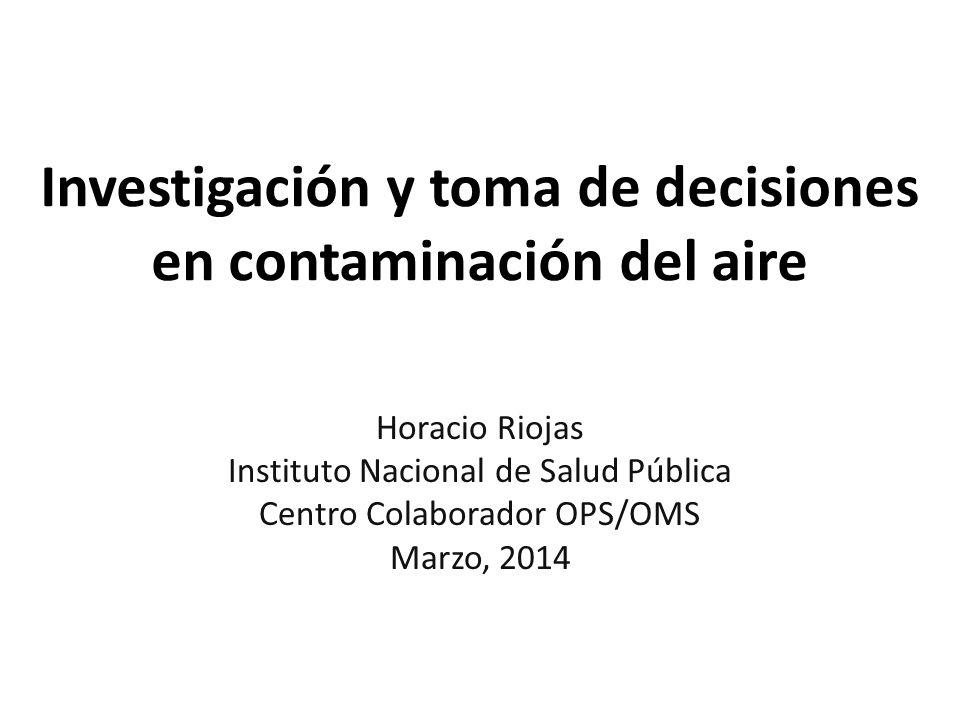 Investigación y toma de decisiones en contaminación del aire
