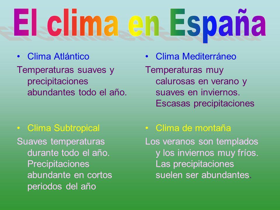 El clima en España Clima Atlántico