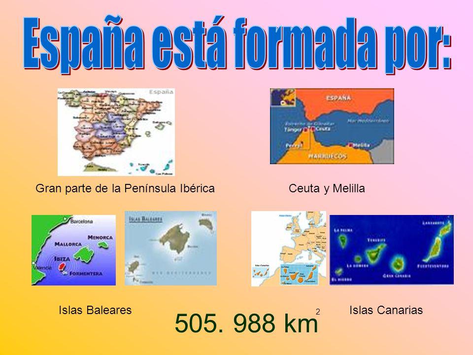 España está formada por: