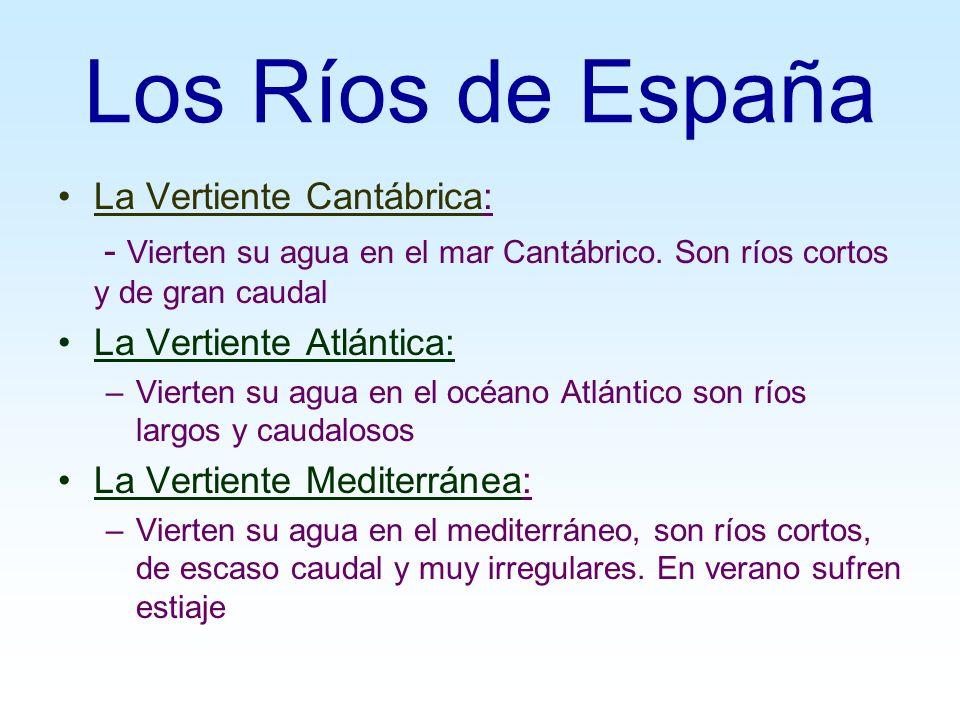 Los Ríos de España La Vertiente Cantábrica: