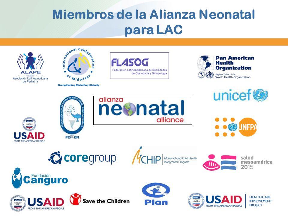 Miembros de la Alianza Neonatal para LAC