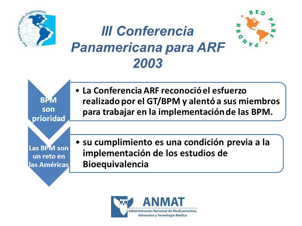 III Conferencia Panamericana para ARF 2003