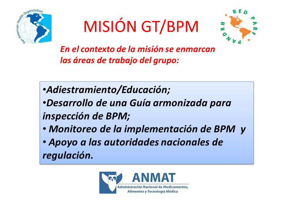 MISIÓN GT/BPM Adiestramiento/Educación;