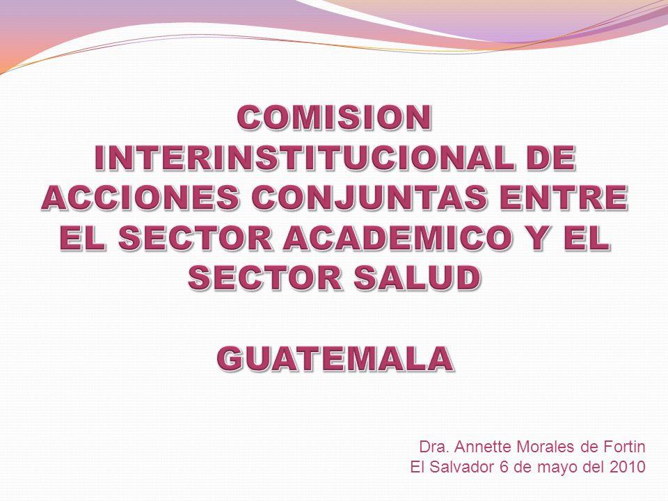 COMISION INTERINSTITUCIONAL DE ACCIONES CONJUNTAS ENTRE EL SECTOR ACADEMICO Y EL SECTOR SALUD