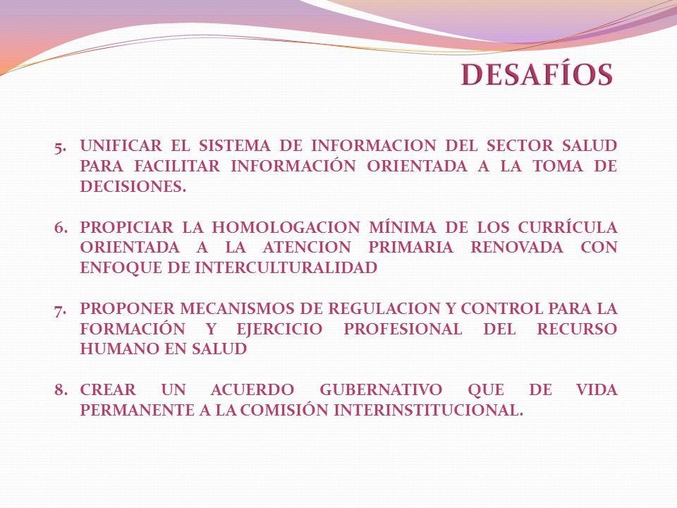 DESAFÍOS UNIFICAR EL SISTEMA DE INFORMACION DEL SECTOR SALUD PARA FACILITAR INFORMACIÓN ORIENTADA A LA TOMA DE DECISIONES.