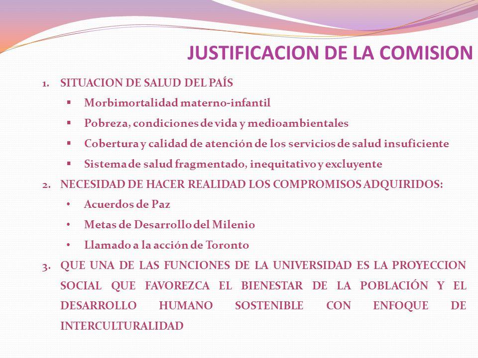 JUSTIFICACION DE LA COMISION