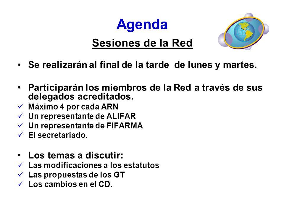 Agenda Sesiones de la Red