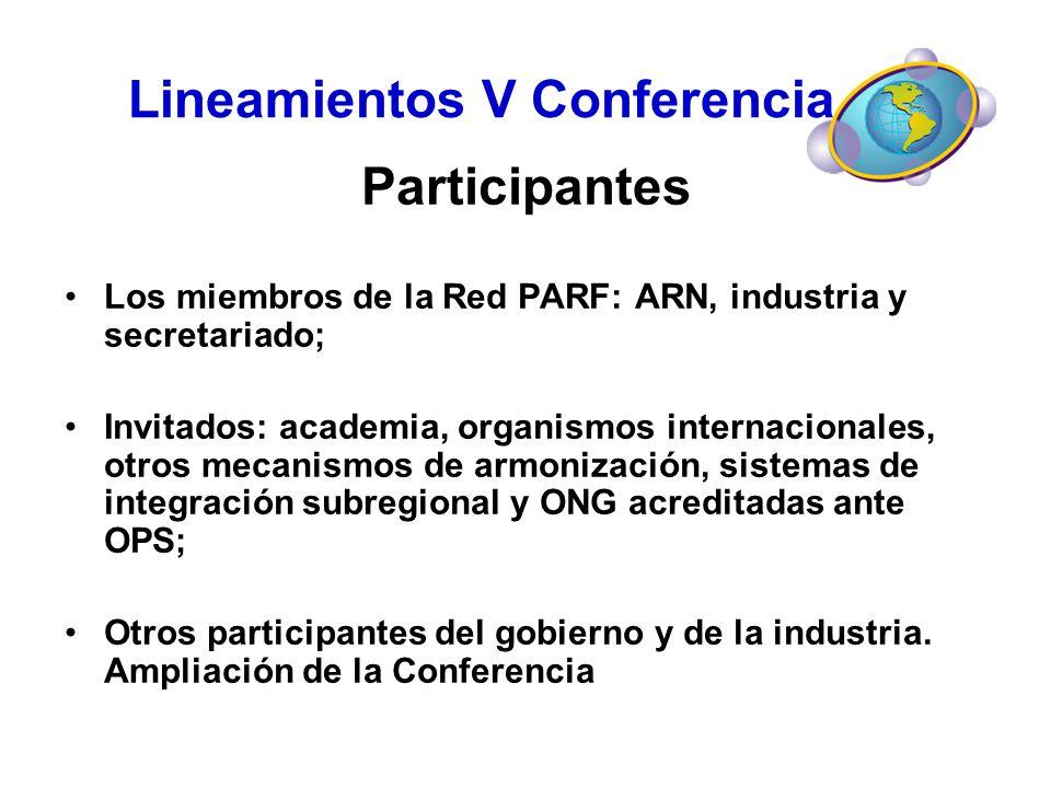 Lineamientos V Conferencia