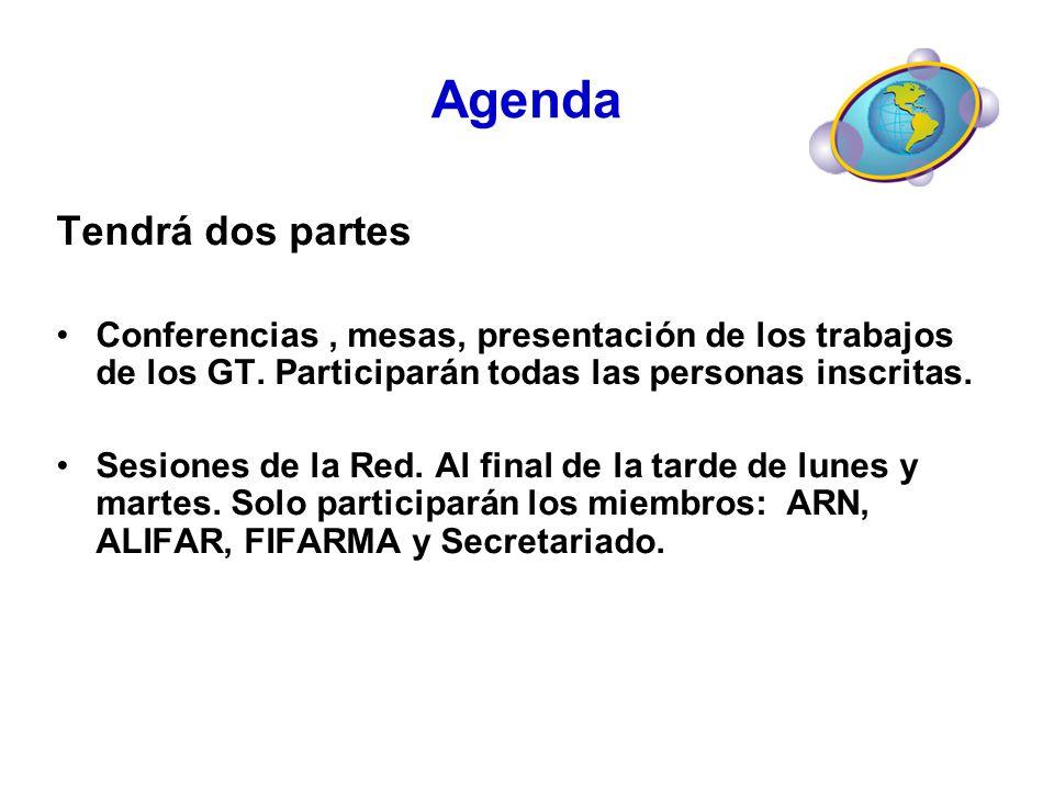 Agenda Tendrá dos partes