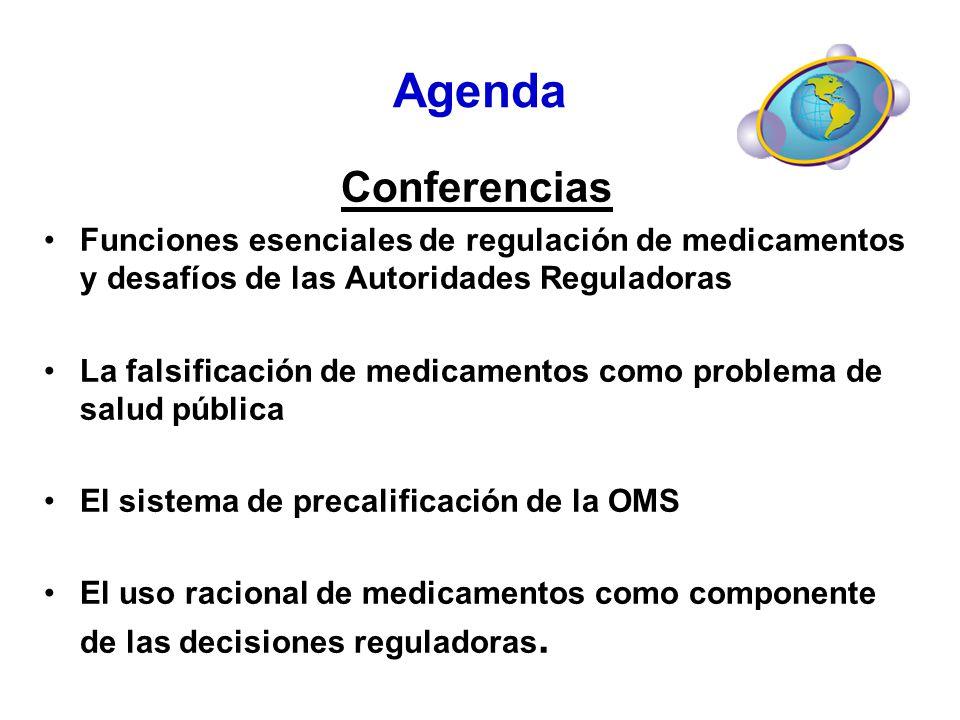 Agenda Conferencias. Funciones esenciales de regulación de medicamentos y desafíos de las Autoridades Reguladoras.