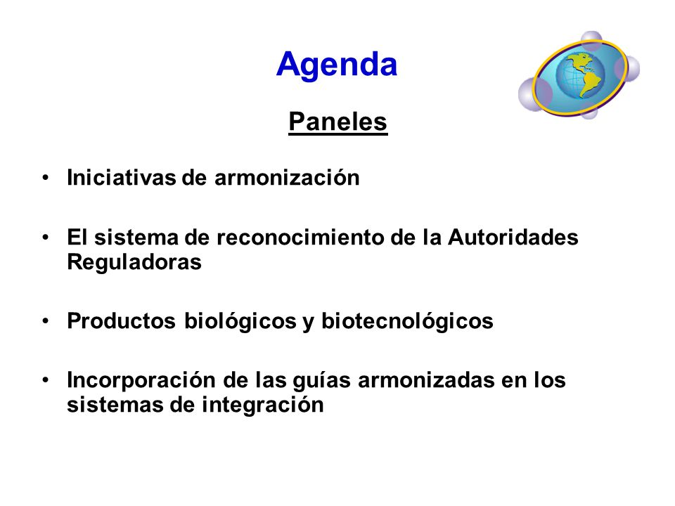 Agenda Paneles Iniciativas de armonización