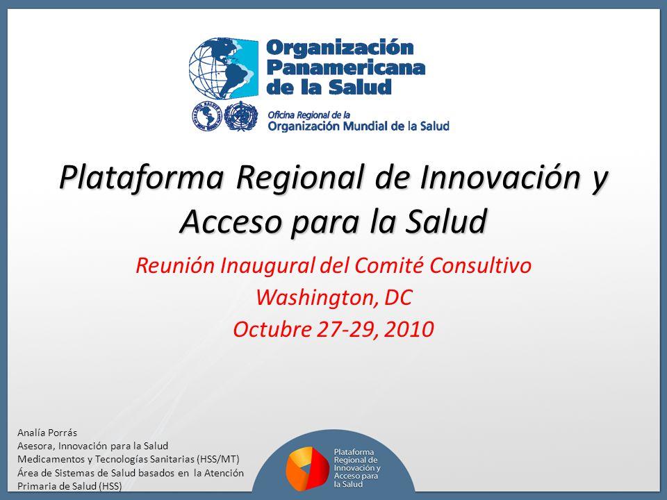 Plataforma Regional de Innovación y Acceso para la Salud