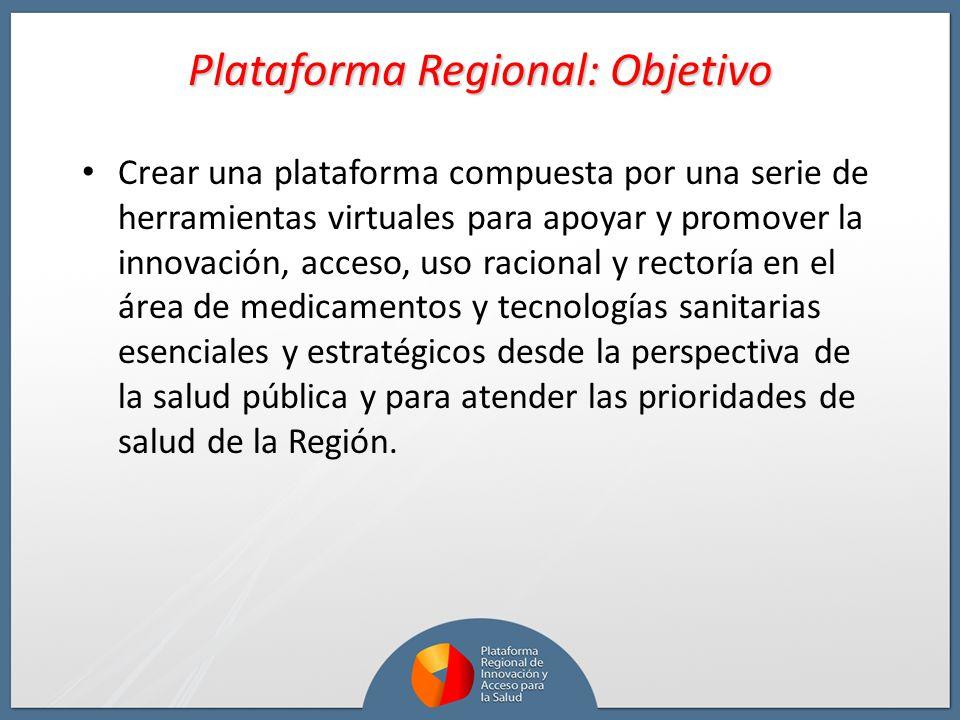 Plataforma Regional: Objetivo