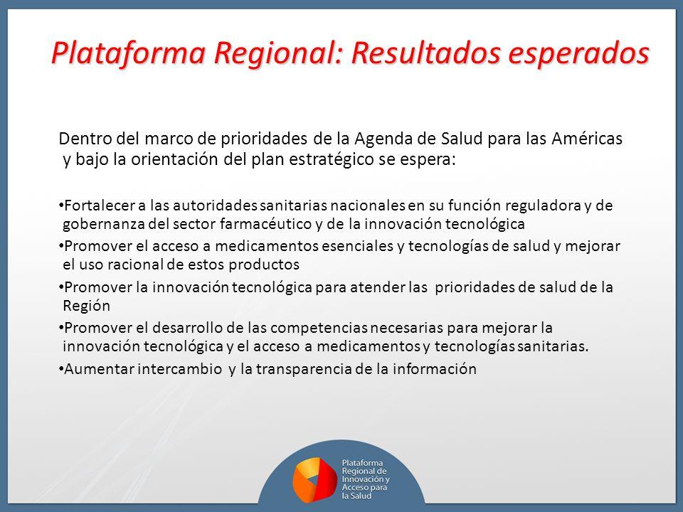Plataforma Regional: Resultados esperados