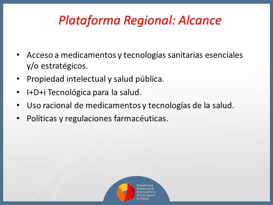 Plataforma Regional: Alcance