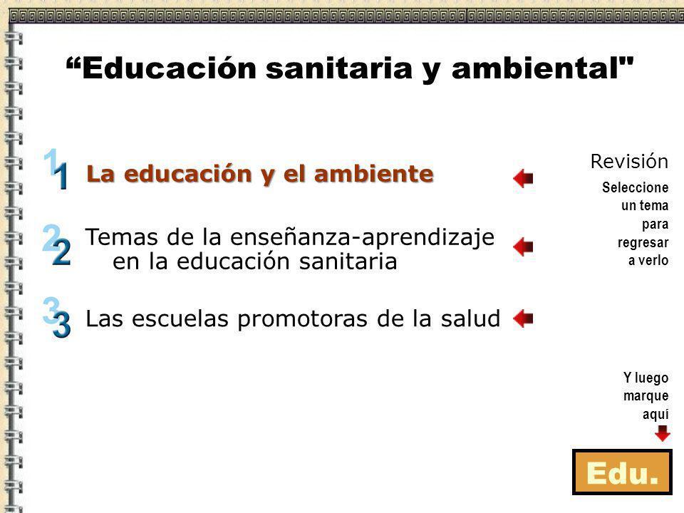 Educación sanitaria y ambiental