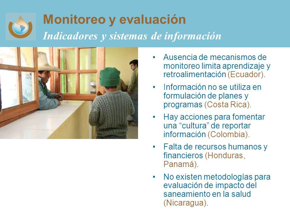 Monitoreo y evaluación Indicadores y sistemas de información