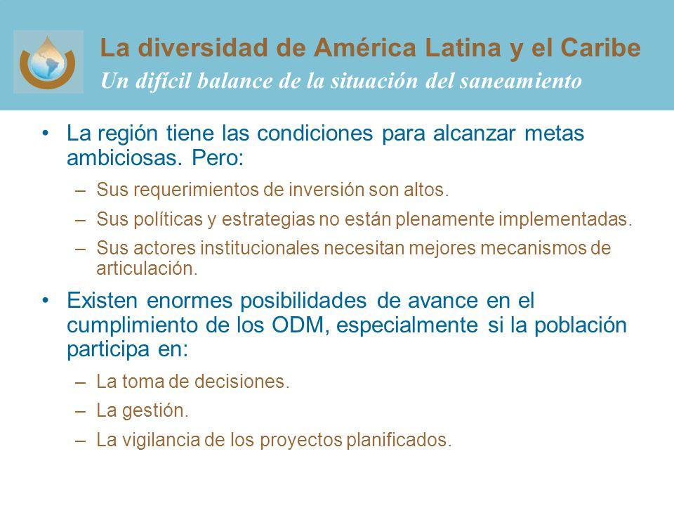 La diversidad de América Latina y el Caribe Un difícil balance de la situación del saneamiento
