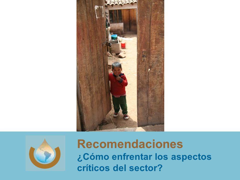 Recomendaciones ¿Cómo enfrentar los aspectos críticos del sector