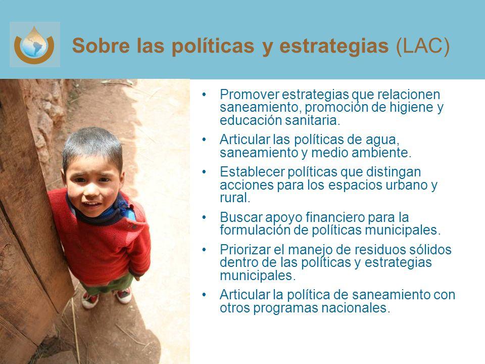 Sobre las políticas y estrategias (LAC)