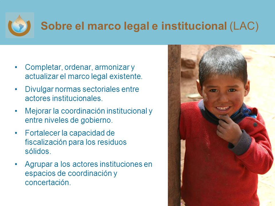 Sobre el marco legal e institucional (LAC)