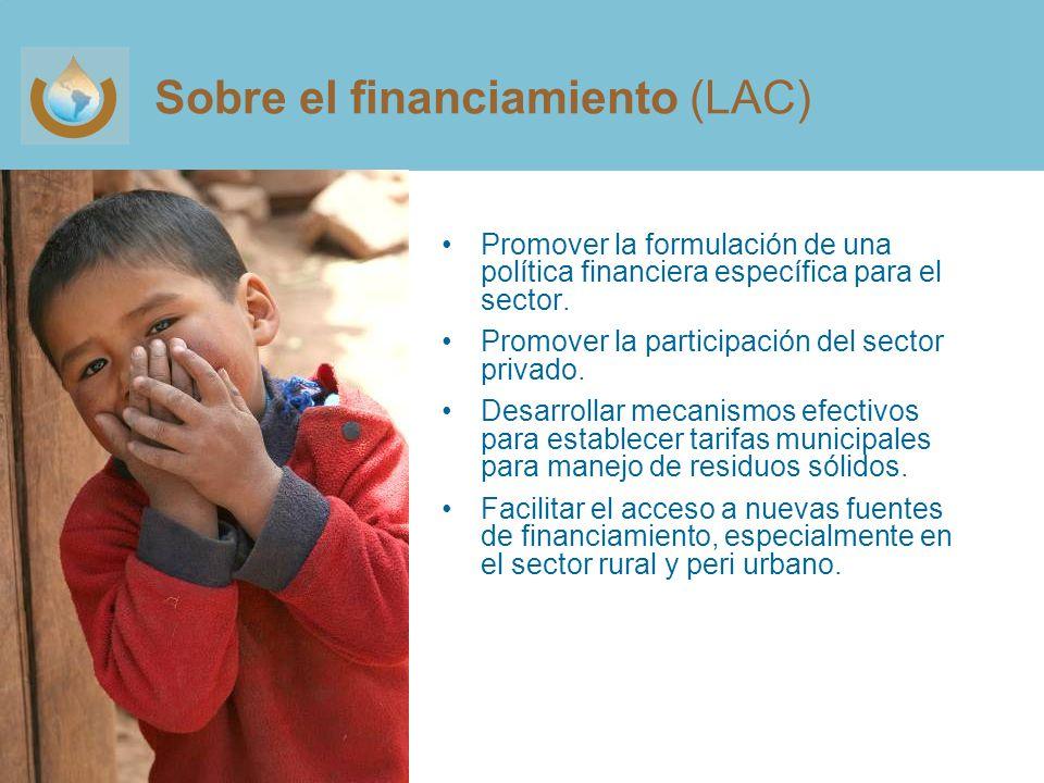 Sobre el financiamiento (LAC)