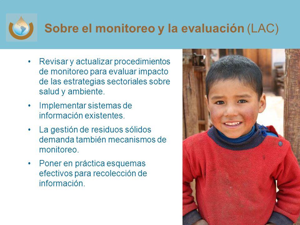Sobre el monitoreo y la evaluación (LAC)