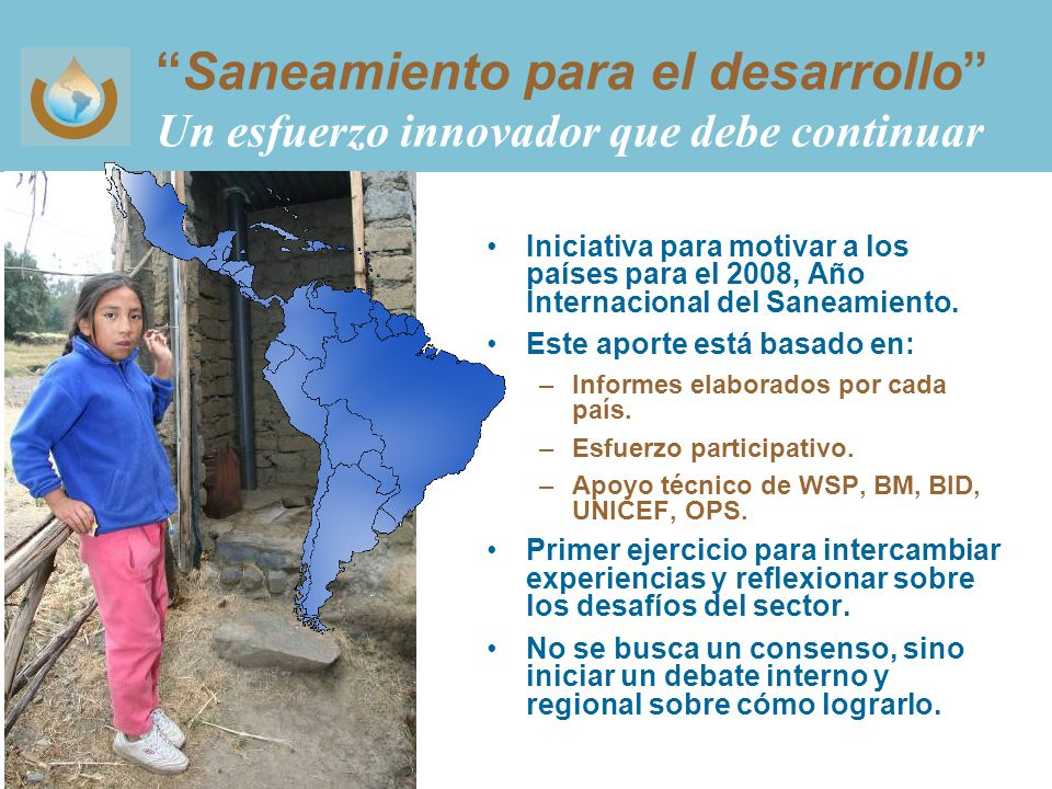 Saneamiento para el desarrollo Un esfuerzo innovador que debe continuar