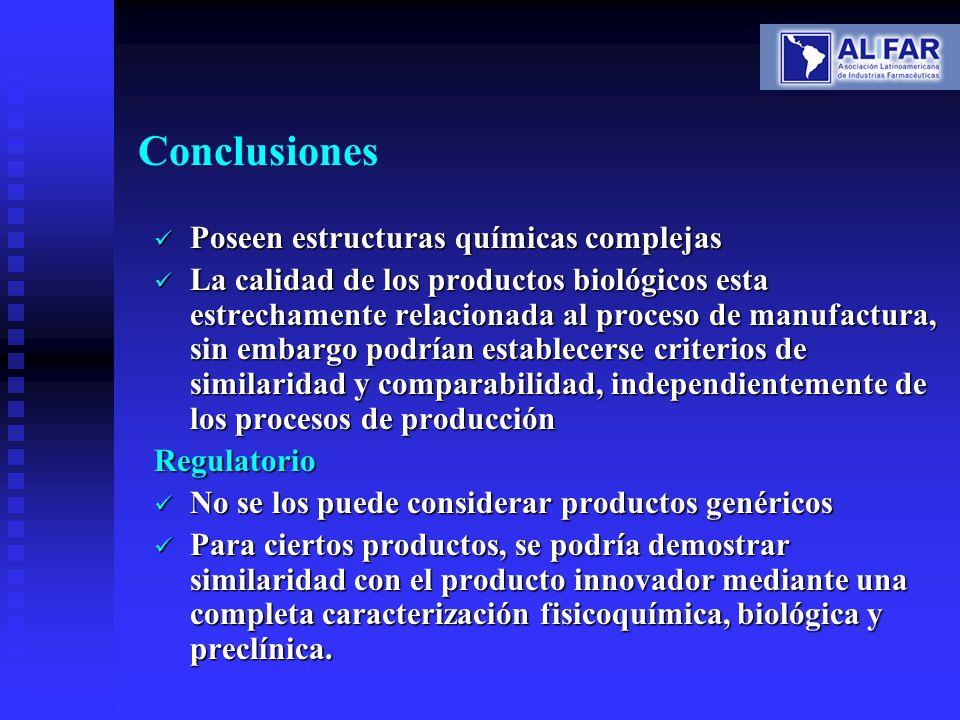 Conclusiones Poseen estructuras químicas complejas