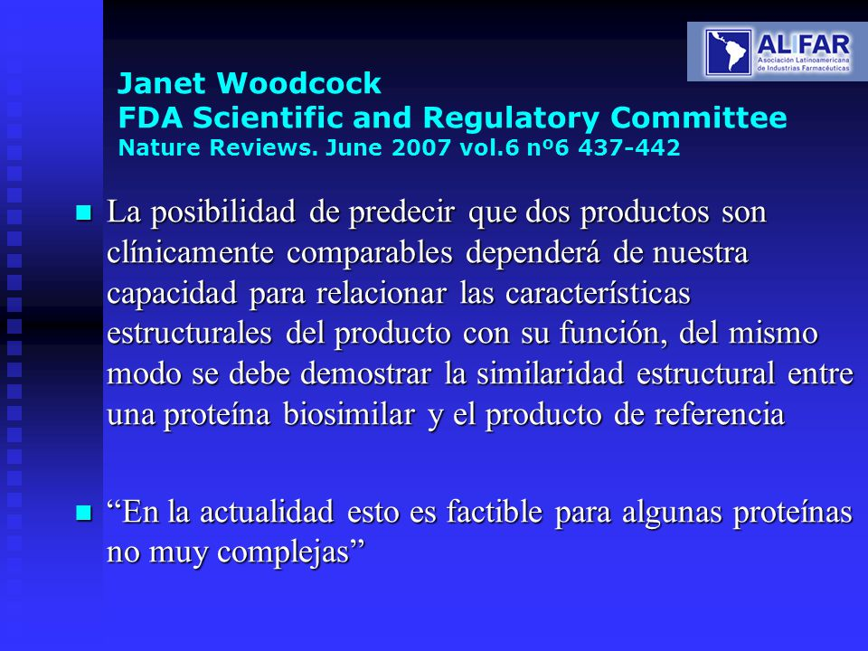 Janet Woodcock FDA Scientific and Regulatory Committee Nature Reviews