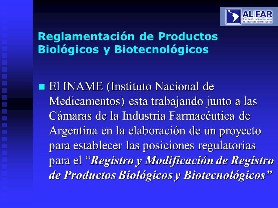 Reglamentación de Productos Biológicos y Biotecnológicos
