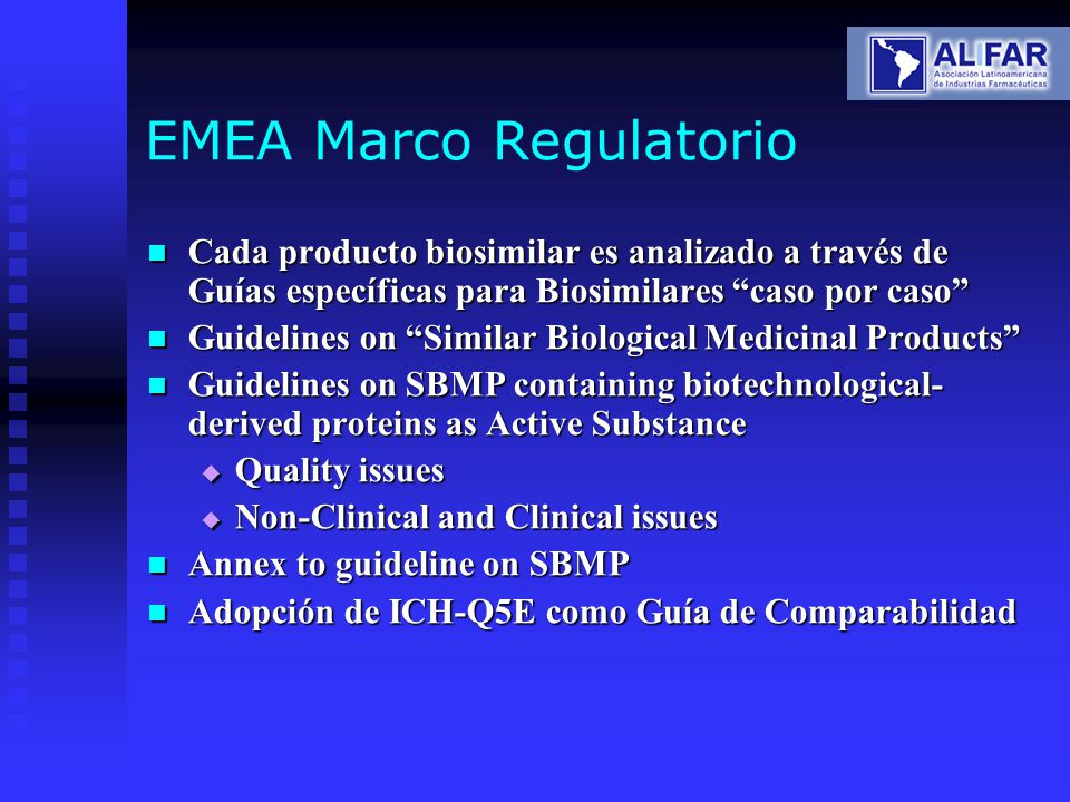EMEA Marco Regulatorio