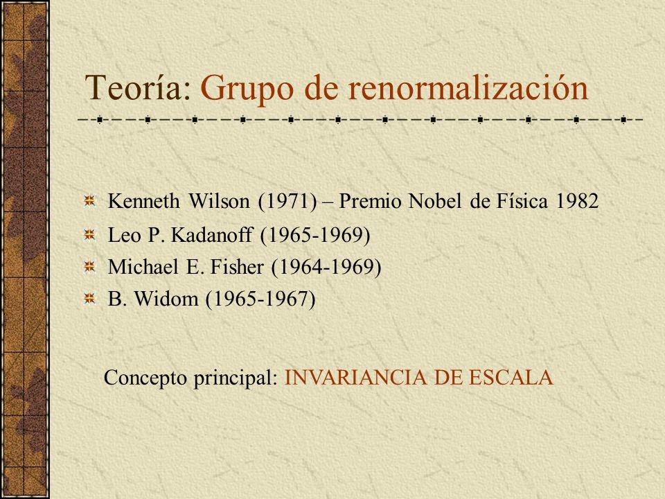 Teoría: Grupo de renormalización