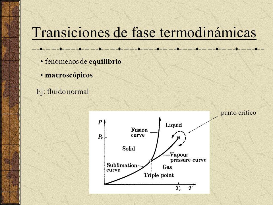 Transiciones de fase termodinámicas